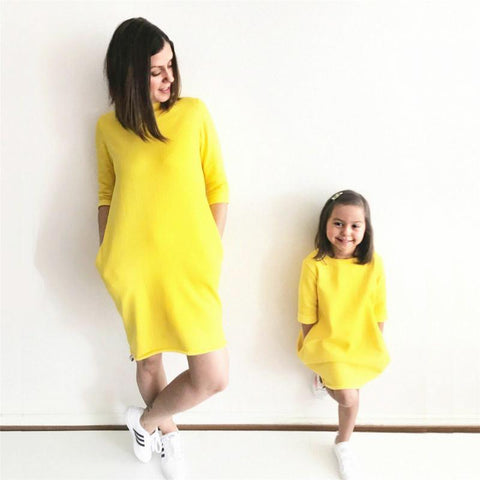 Image of MOMMY + ME - SUNSHINE MATCHING DRESS