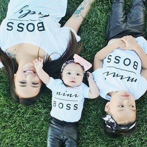 MOMMY + ME BOSS SHIRTS FOR THE FAMILY