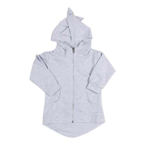 Image of DINOSAUR ZIPPED HOODIE JACKET (MORE COLORS) - Elsa Bella Baby