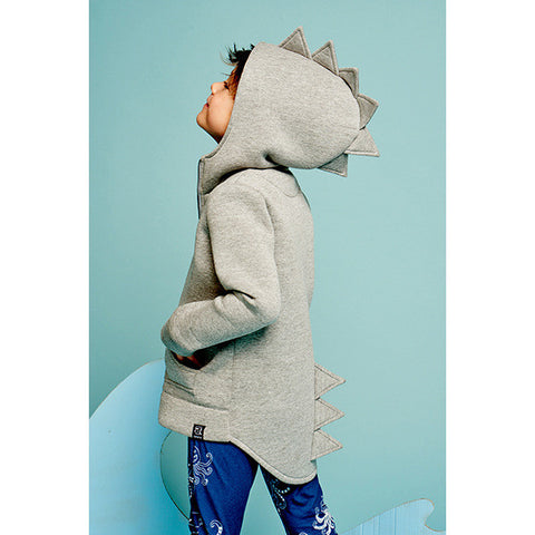 DINOSAUR ZIPPED HOODIE JACKET (MORE COLORS) - Elsa Bella Baby