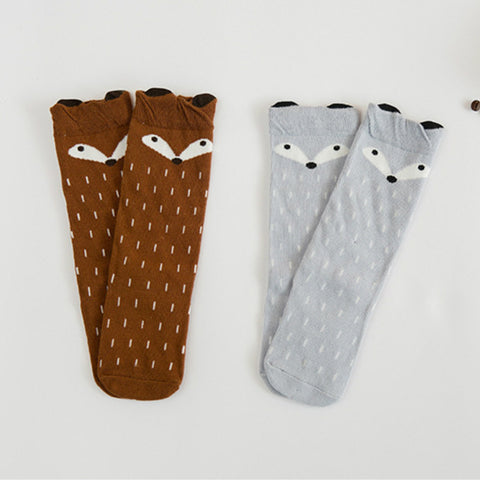 Image of FOX KNEE HIGH SOCKS - FOR AGES 1-6 YRS OLD - Elsa Bella Baby