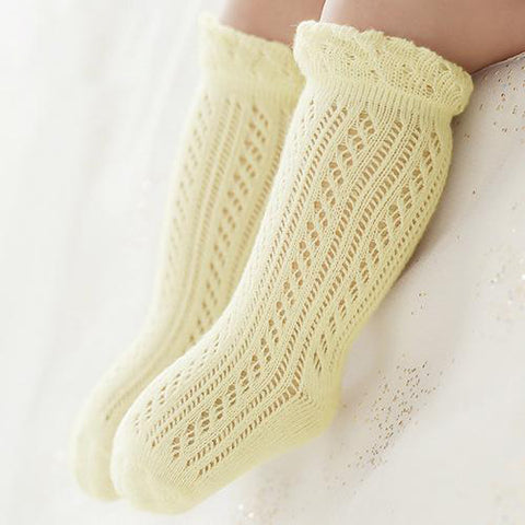SOFT COTTON KNIT PATTERN BABY SOCKS - Elsa Bella Baby