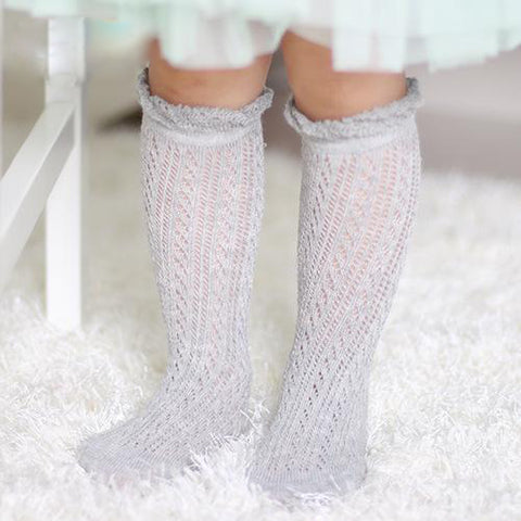Image of SOFT COTTON KNIT PATTERN BABY SOCKS - Elsa Bella Baby