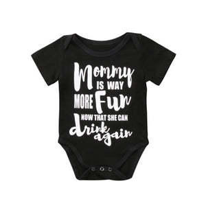 MOMMY IS MORE FUN WITH DRINKS ROMPER
