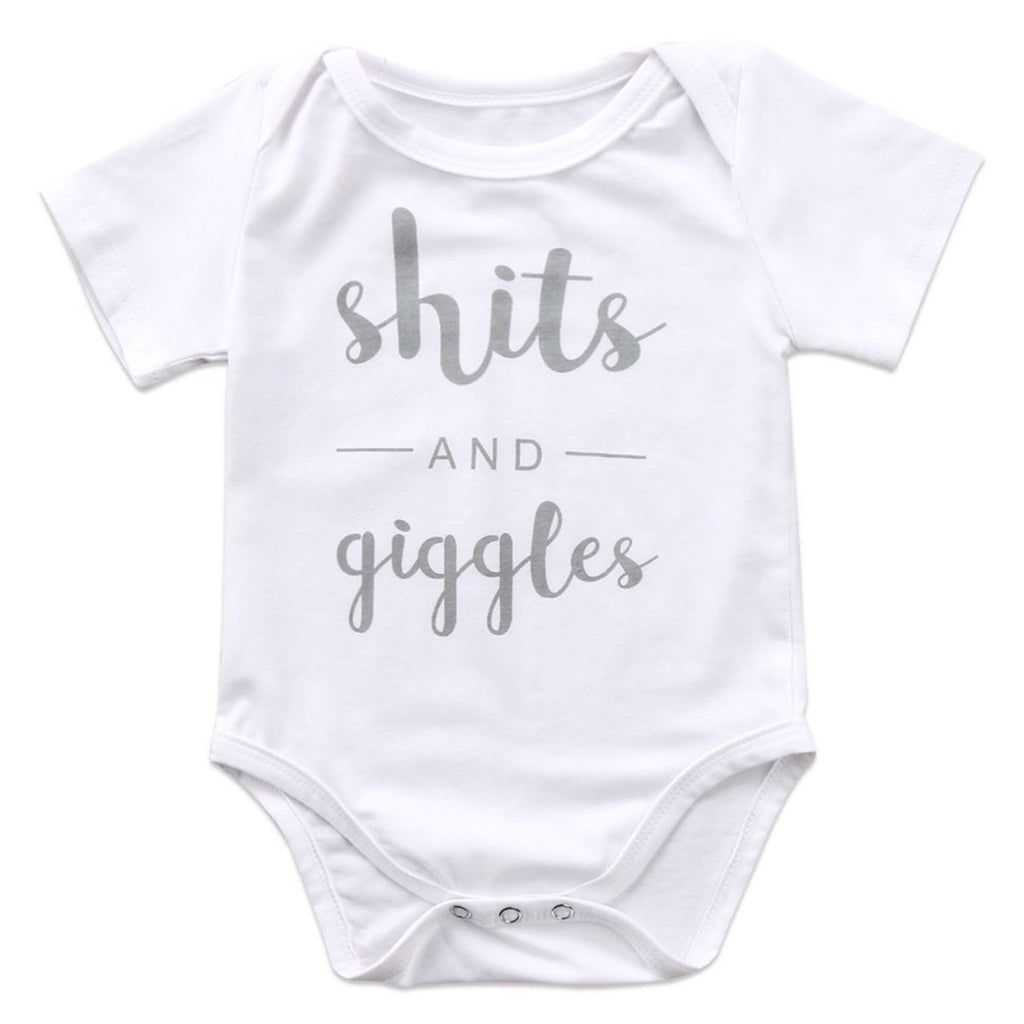 SHITS AND GIGGLES ROMPER - Elsa Bella Baby