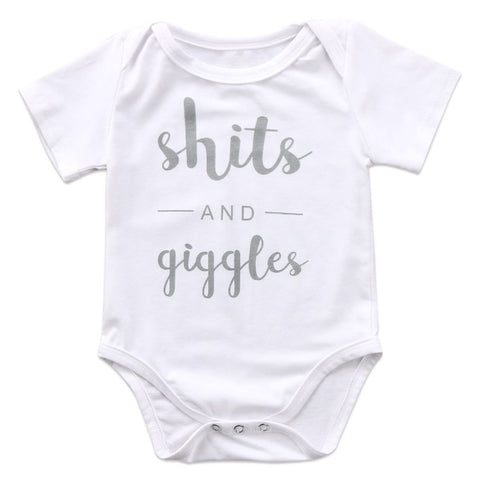Image of SHITS AND GIGGLES ROMPER - Elsa Bella Baby