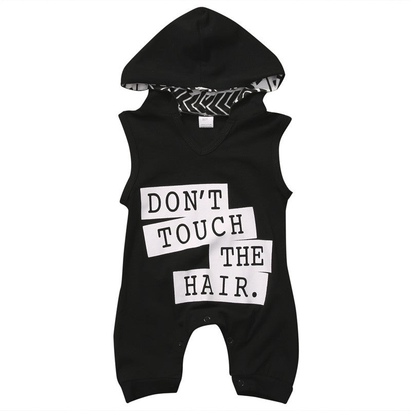 DON'T TOUCH THE HAIR HOODED ROMPER/JUMPSUIT - Elsa Bella Baby