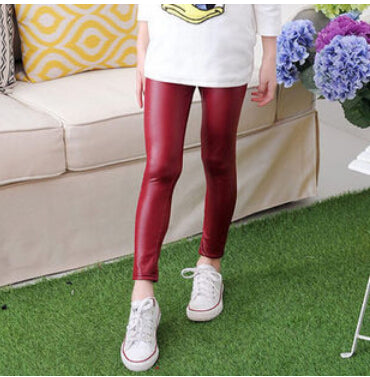 FAUX GIRLS LEATHER PANTS (MORE COLORS) - Elsa Bella Baby