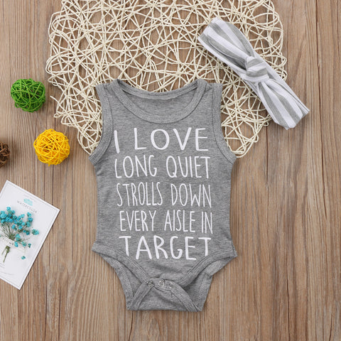 Image of LONG STROLLS AT TARGET ROMPER OUTFIT (2PC SET)