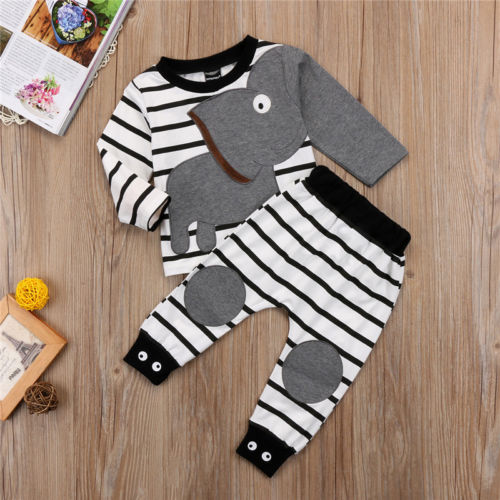 ELEPHANT ARM OUTFIT (2PC SET) - Elsa Bella Baby