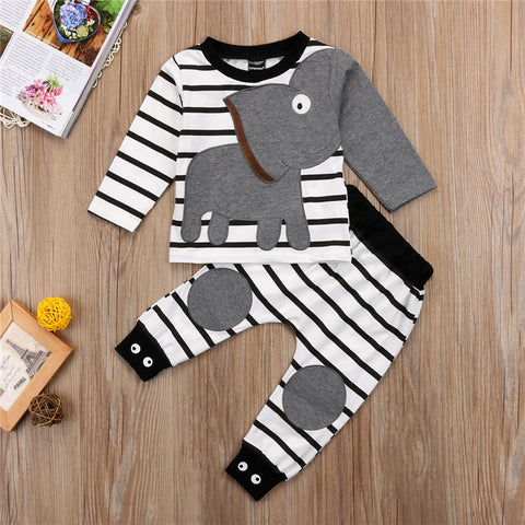 Image of ELEPHANT ARM OUTFIT (2PC SET) - Elsa Bella Baby