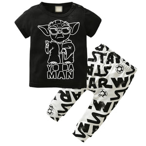 YO DA MAN OUTFIT (2PC SET) - Elsa Bella Baby