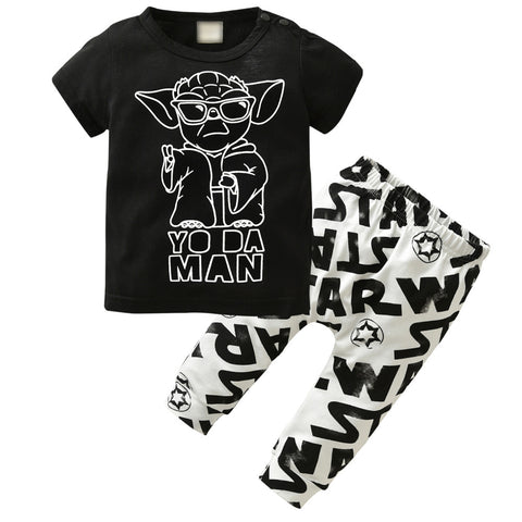 Image of YO DA MAN OUTFIT (2PC SET) - Elsa Bella Baby