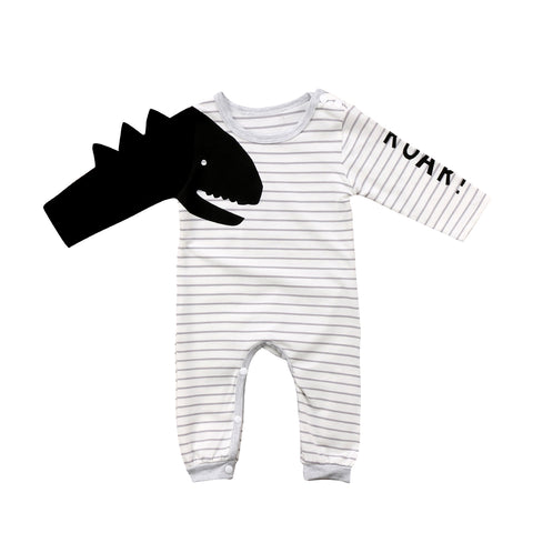 Image of DINO ARM ROAR ROMPER - Elsa Bella Baby
