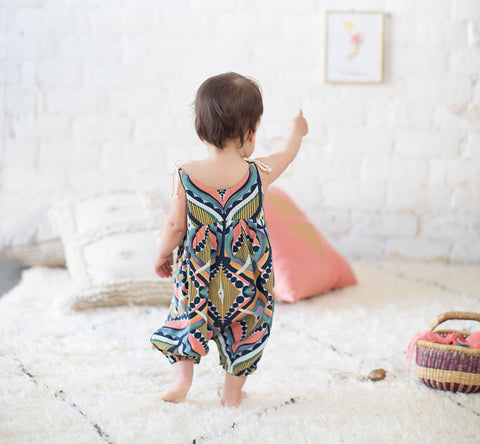 DIAMOND HEAD BOHO ROMPER - Elsa Bella Baby