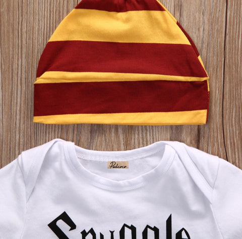 Image of SNUGGLE THIS MUGGLE OUTFIT (3PC SET) - Elsa Bella Baby