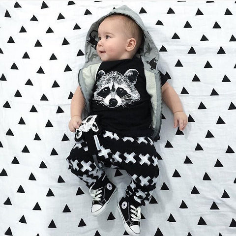 Image of ROCKIN' RACCOON OUTFIT (2PC SET) - Elsa Bella Baby