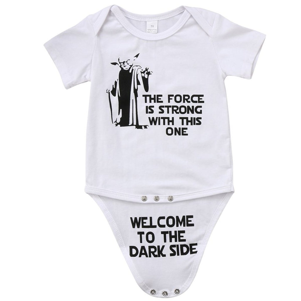 FORCE IS STRONG, DARK SIDE SURPRISE ROMPER - Elsa Bella Baby