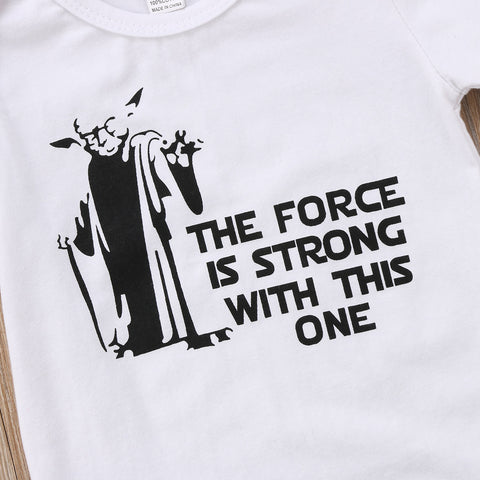 Image of FORCE IS STRONG, DARK SIDE SURPRISE ROMPER - Elsa Bella Baby