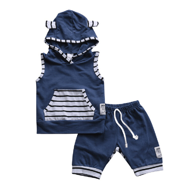 BABY/TODDLER NAVY OUTFIT (2PC SET) - Elsa Bella Baby