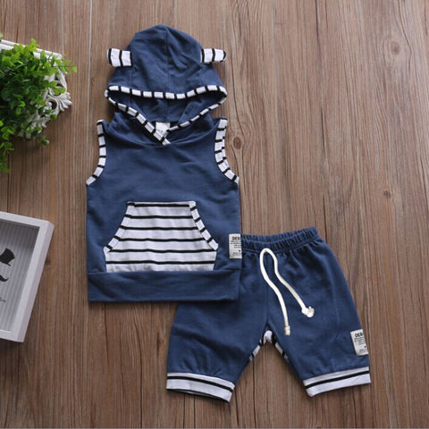 Image of BABY/TODDLER NAVY OUTFIT (2PC SET) - Elsa Bella Baby