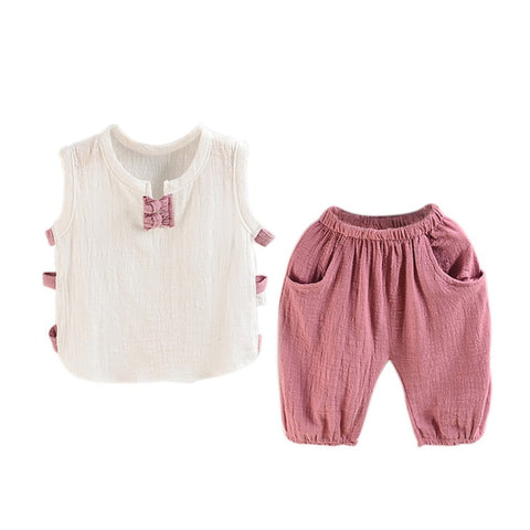 Image of SUMMER BREEZE OUTFIT (2PC SET) - Elsa Bella Baby
