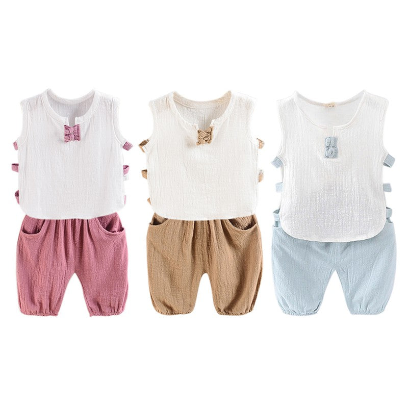 SUMMER BREEZE OUTFIT (2PC SET) - Elsa Bella Baby