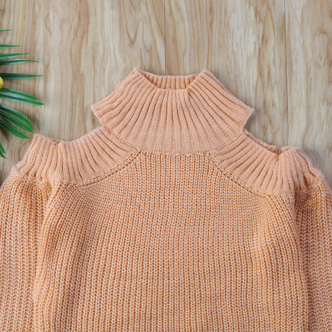 Image of MOMMY + ME SHOULDER CUTOUT (COLD-SHOULDER) SWEATER