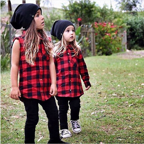 PIPER RED & BLACK PLAID SHIRT