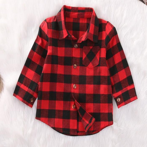 Image of PIPER RED & BLACK PLAID SHIRT