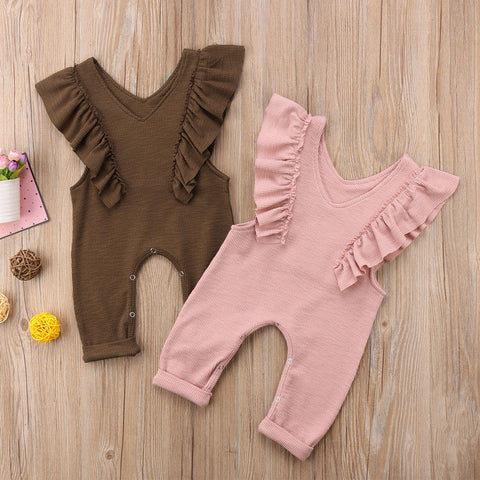 Image of DINA RUFFLE OVERALLS (MORE COLORS) - Elsa Bella Baby