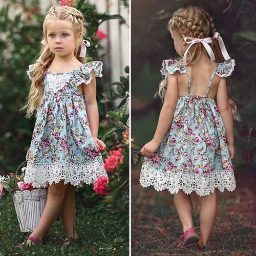 TAYLOR FLOWER LACE DRESS - Elsa Bella Baby