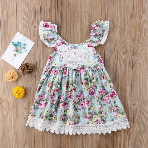 Image of TAYLOR FLOWER LACE DRESS - Elsa Bella Baby