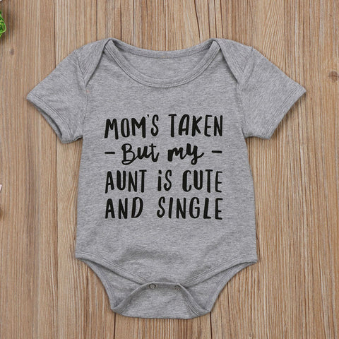 Image of MY AUNT IS SINGLE ROMPER