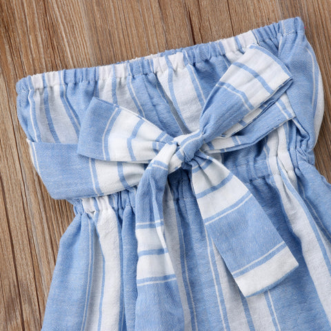 Image of MOMMY + ME SEASIDE BOWKNOT ROMPER