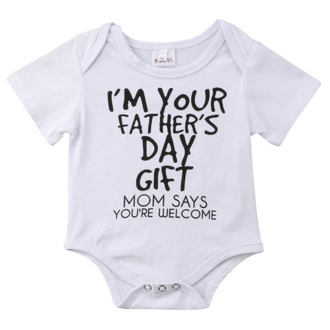 Image of I'M YOUR FATHER'S DAY GIFT ROMPER - Elsa Bella Baby