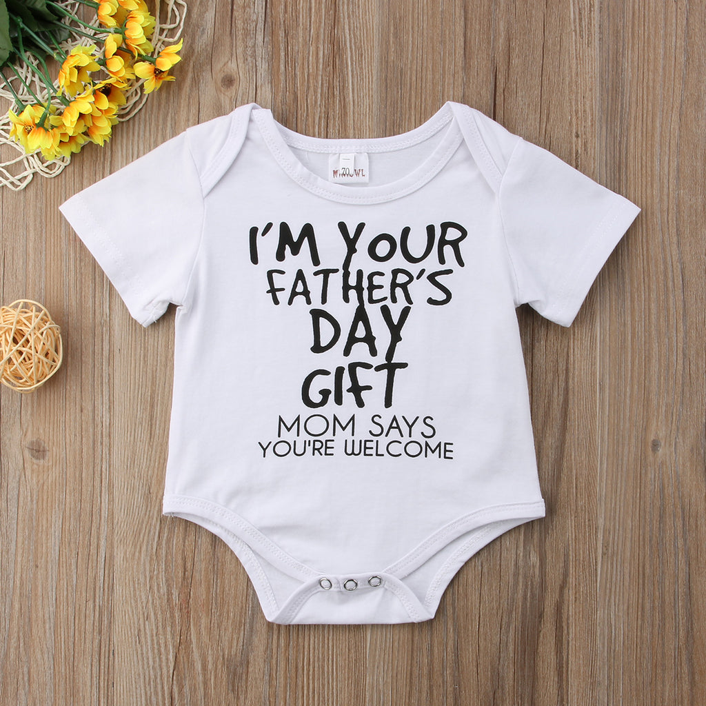 I'M YOUR FATHER'S DAY GIFT ROMPER - Elsa Bella Baby