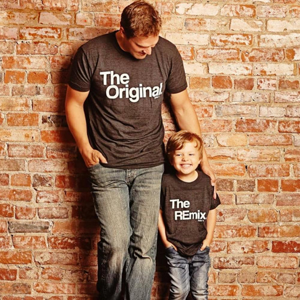 DADDY + ME ORIGINAL AND REMIX MATCHING T-SHIRT - Elsa Bella Baby