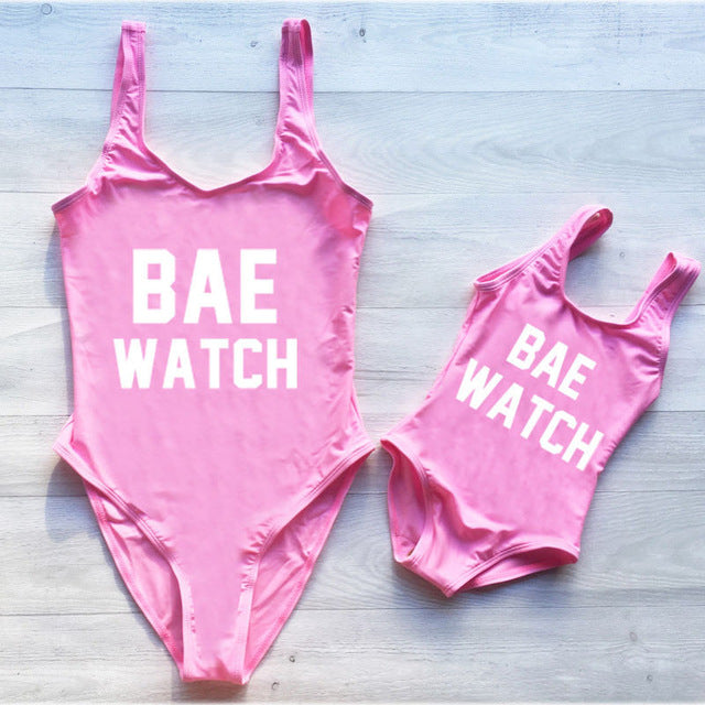 MOMMY + ME BAE WATCH SWIMSUIT