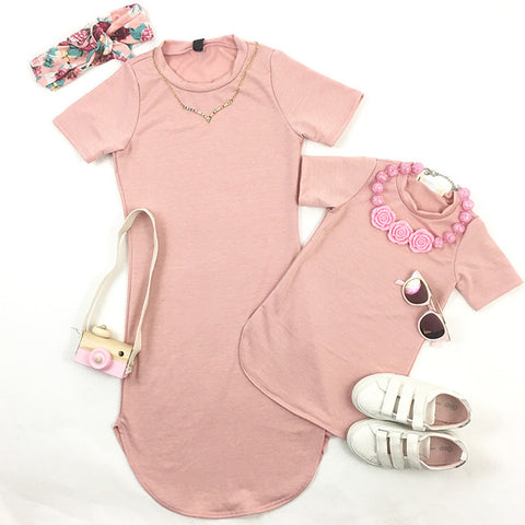 MOMMY + ME T-SHIRT DRESS (MORE COLORS)
