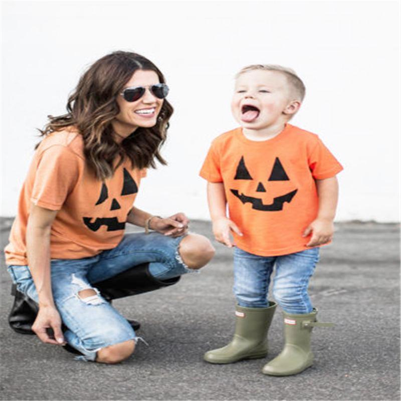 MOMMY + ME PUMPKIN SHIRTS