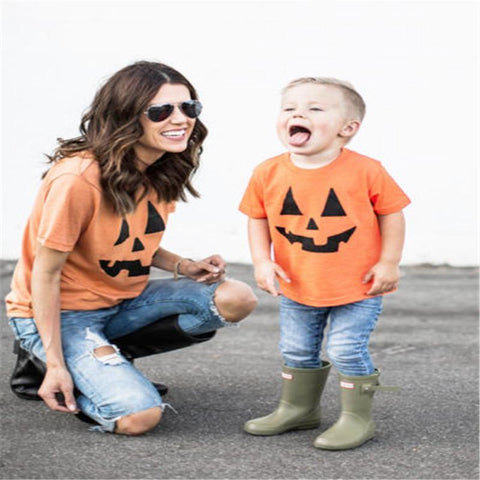 Image of MOMMY + ME PUMPKIN SHIRTS