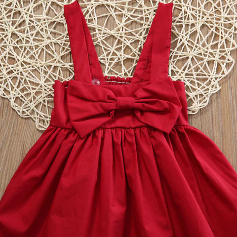 Image of DAHLIA RED BOW DRESS - Elsa Bella Baby