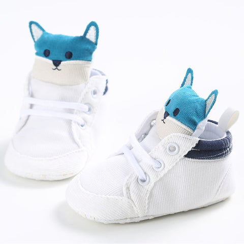 Image of KANGO BABY BOOTS (STRAPLESS) (WHITE/BLUE BEAR) - Elsa Bella Baby