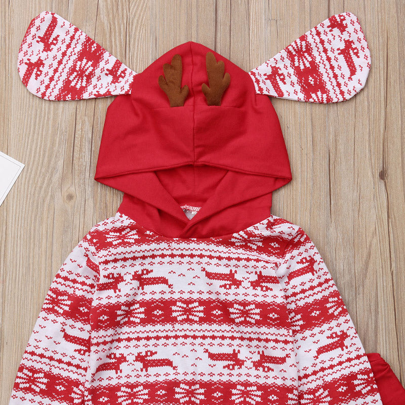 Oh Deer Hooded Two-Piece Outfit