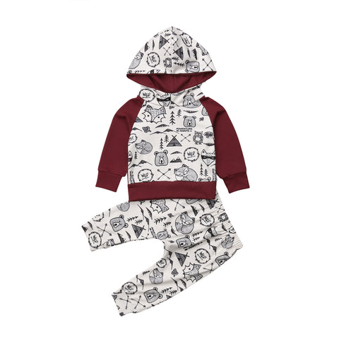 Image of Into The Wild Hooded Two-Piece Outfit