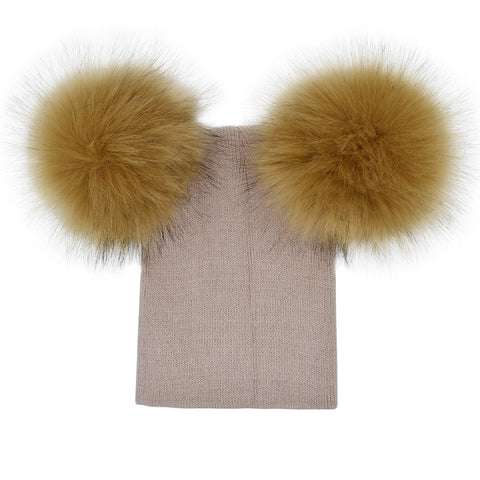 Image of Double Pom Pom Beanie