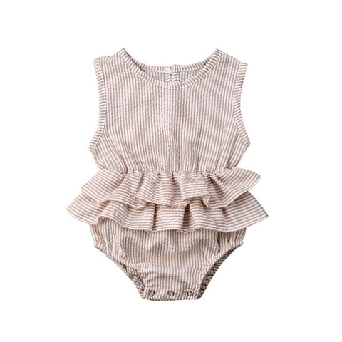 Image of Diane Sleeveless Ruffle Romper