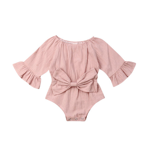 Image of Olivia Bowknot Romper