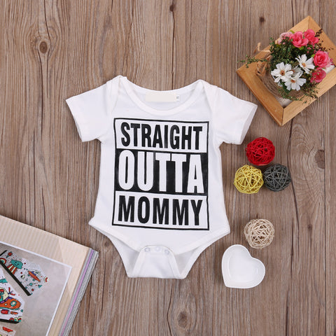 Image of STRAIGHT OUTTA MOMMY ROMPER - Elsa Bella Baby